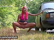 PORNXN Sucking cum through her ass