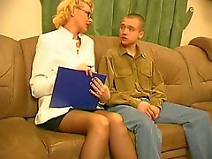 Russian Mature Fucked on Sofa