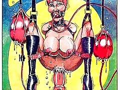 Insane BDSM orgie kön komiska