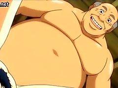 Milf anime onu pislik koydu alır