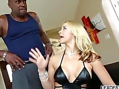 Seducing the huge black stud for anal