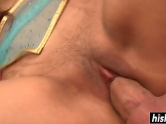 Naughty Kush has fun with a cock