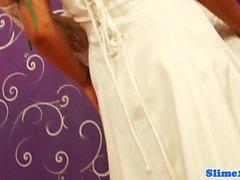 Lesbo glory hole brides bukkakke kattoi