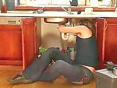 merde Trentenaire chaud dans la cuisine