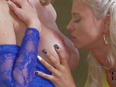 Blonde on blonde action with Ashley Bulgari and Danielle Maye