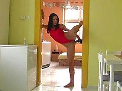 Pegarse del gimnasta Puerta del juguete