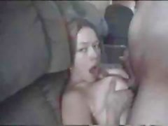 Girlie in crotchless pantyhose impales her ass on a large shaft