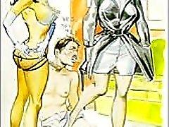 Vintage onda sexuella femdom komiska