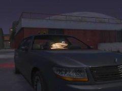 Dude wird in einem Auto gelegt
