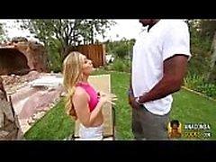 White Black-Cock-Slut Sacrifices Her Pussy For Black Big-Dick