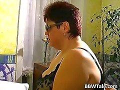 Kinky sukupuolen peli kiimainen BBW lutka ja hänen gynekologi