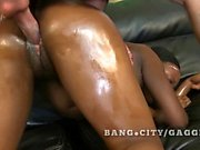 Carla Chillz heats up white cocks