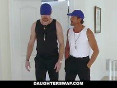 DaughterSwap - Horny Tennis filles Ride Stepdads Cock