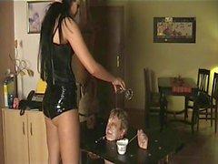 Talla especial Preciosa la señora humille sus esclavos