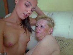 OldNanny BBw senior fucking with sexy lesbian