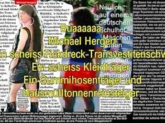 Lateks Maid Luder basın şemsiyesi Transvestitenschwein im Müllpresswagen tot