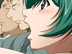 Anime cutie blir onanerat i tåget