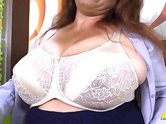 Latin granny Rosaly masturbates