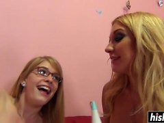 Horny Amy and her friend get fucked
