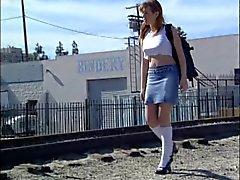 Schoolgirl i värme slog på ett hotell