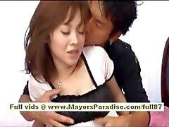 Mihiro modelo chinês goza recebendo uma porra de escritório