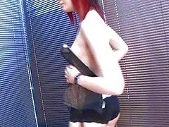 Classy рыжеволосый готы детка очень сексуальные черные нижнем белье