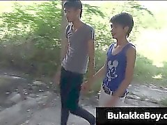 Homosexuell Asiaten in Dreier Porno-Video