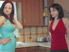 Deux chaudes lesbiennes lesbiennes lèchent leurs chattes
