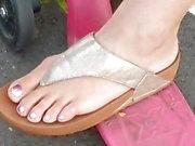 Istantanea piedi - mamma polacca