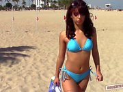 Pretty hot babes Kobi and Gina licking each other