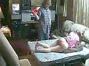 50 ударов на Пэгги в Любительской BDSM шлепание