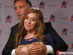 DP Étoiles 3 - Big Natural Tit Pornstar Lena Paul Deep Throat Fellation