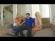 Nice 3some с 2 мерными блондинками, Part2 на uniteporn com