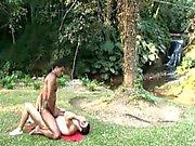 Beefy к гомосексуалистам Hardcore анальный ебля в лесу