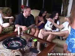 Tanner Mayes and Alexis Capri playing Sex Roulette with