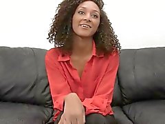 Hot black chick Olivia casting shoot