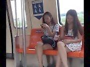 LRT Teenager Boso Upskirt Half-Chinese Red Panty