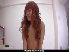 Ayumi Sakurai endures serious cracking in her hairy twat