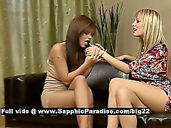 Angelica and Beatrice astonished lesbian babes licking