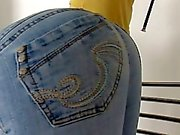 whipped on jeans and bare bottom