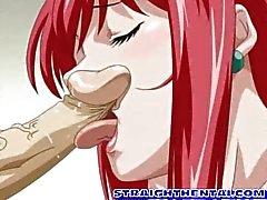 Hentai sıcak oral seks ve becerdin alır