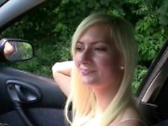 Bitch STOP - Squirting blonde fucked in the car