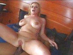 Daphne Rosen riding black dick