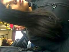 Encoxada bus de de Latina
