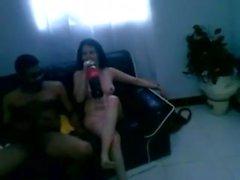 esposa mexicana necesita de la BBC, su marido cucklod filmado