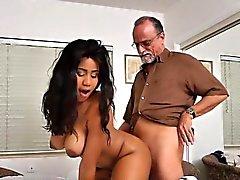 Busty Teen Tara Foxx Uses Her Rich Old Admirer