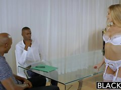 BLACKED Blonde Personal Assistant Shawna Lenee Loves Black Men