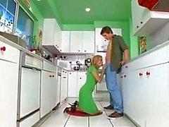 Горячая Кухонные жопа ебать
