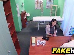 Fake Hospital Frisky shaven pussy Russian babe