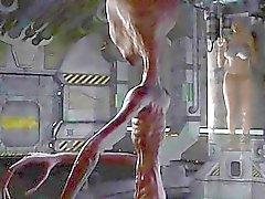 3D Animation utomjordisk kidnappning ett